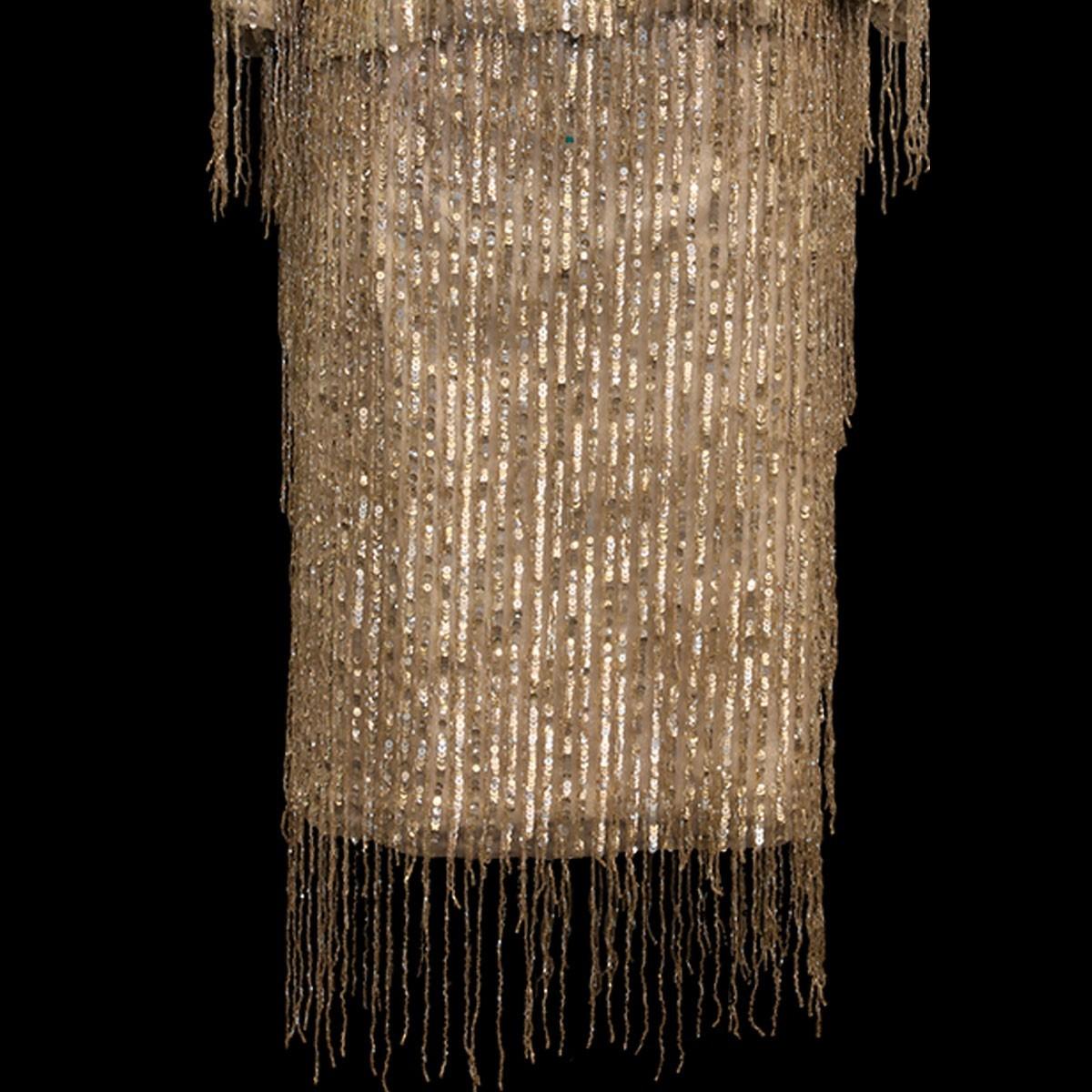 Falda con base de otomán de lurex